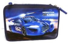 Depesche 8209 A Monster Cars Federtasche blau Racing Auto / Rakete 3 fach Schulm