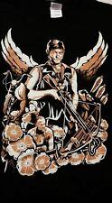Daryl Dixon Angel Wings Short Sleeve T Shirt in Medium