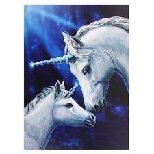 Fantasy Bild  Einhorn heilige Liebe mit Fohlen Lisa Parker 70cm x 50cm