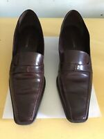 Enzo Angiolini  Flat Leather Loafer Brown Size 10