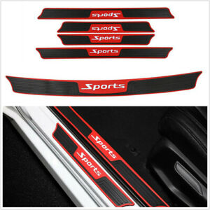 5PCS Rubber Anti Scratch Strips Black Fit For Car Door Rear Bumper Edge Protect
