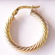 Boucles d'oreilles  or 18 carats 750/1000ème 18k 3 ors