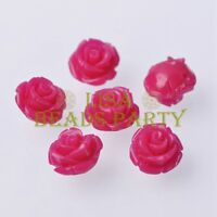 New 10pcs 12mm Rose Flower Synthetic Coral Charms Loose Spacer Beads Rose