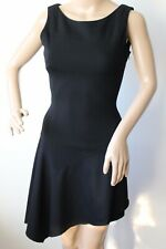 Karen Millen BLACK WOOL DRESS PARTY / EVENING ASYMMETRIC HEM SIZE UK 8 NEW !