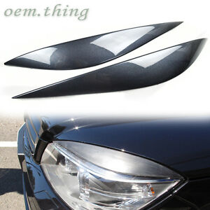 08-11 Fit FOR Mercedes Benz W204 C-Class Front Headlight Eyelids Eyebrows Paint