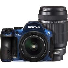 USED Pentax K-30 with DAL 18-55mm AL + DAL 55-300mm Blue Excellent FREESHIPPING