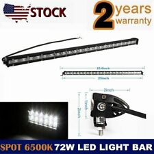 72W 653*50*27mm Led Work Light Bar Single Row Driving Lamp for ATV SUV JEEP 4WD