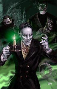 ZACHERLEY The Cool Ghoul Art Print Poster TV horror host  Scott Jackson