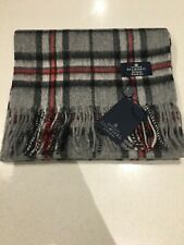 Scotland Balmoral Check Thomson Stewart Grey Tartan Lambswool Scarf Soft Wool