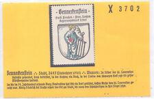 Reklamemarke Wappen von Benneckenstein Sachsen-Anhalt um 1925 (B612)