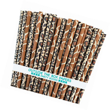 Outside the Box Papers Safari Theme Animal Print Paper Drinking Straws 7.75 Inch