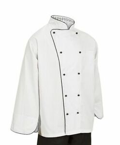 Executive Chef Jacket Womens Works Coat Ladies Marbella S White Top Long Kitchen