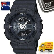 New Casio G-Shock Mens Watch GA-110HT-1A Ana Digi Heather Black