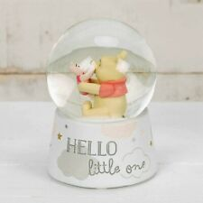More details for disney winnie the pooh & piglet water ball / snow globe baby gift