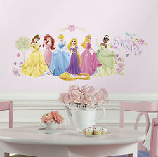 36 New DISNEY PRINCESS GLOW WALL DECALS Rapunzel Tiana Cinderella Stickers Decor