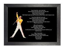 Königin Liebe meines Lebens Lyrics Poster British Rock Musik Band Mercury Star Foto