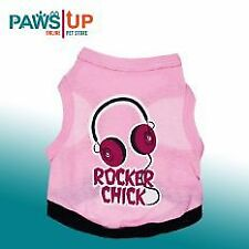 Paws UP Rocker Chick Style Cotton Summer Shirt for Dogs large