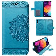 Samsung Galaxy A50 Mandala Handy Tasche Handyhülle Wallet Case Schutz Hülle Etui