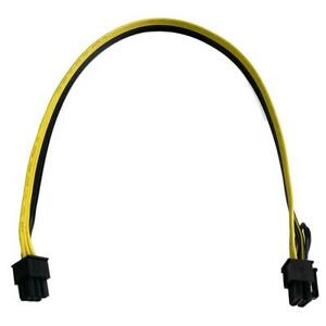 6 Pin Male to 6/8 Pin Male 18AWG PCIe 70CM  Mining Cable