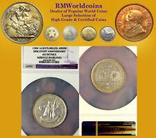 Brazil 1900 4000 Reis, Rare Large Commerative, NGC,  High Grade, Mtg 6,850 pcs
