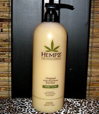 Hempz Original Herbal Body Wash Liter 33.8 oz with Pump Hydrate and Nourish