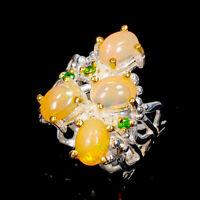 Opal Ring Silver 925 Sterling Fine Art Jewelry Design Size 6.5 /R145955