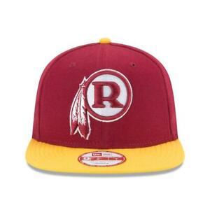 Washington Redskins New Era 9FIFTY Vintage 2 Tone Red The League Strap Back Hat