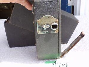 antique 1931 risdon model A 16mm movie camera spring wind motor. original box