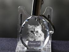 Perserkatze, Katze Kristall rund Schlüsselbund, Crystal Animals DE