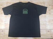 Shake Shack Men's Black Short Sleeve Graphic T-Shirt, Large, Polyester, EUC Rare