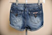 Hudson Jeans Dark Wash Blue Denim Shorts Cuffed Rollup Youth Girls size 12