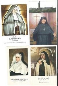 Lotto n. 4 Santini differenti con preghiere (4581-4584) Come da foto