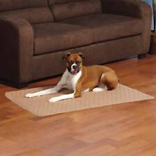 "Tan Siesta Dog Crate Mat Bed Non Skid Soft Quilted Design Medium 30"" x 19"" Latte"