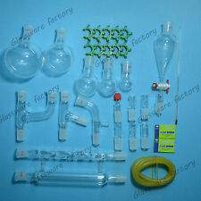 29PCS,24/29,Organic Chemistry Glassware Kit,Laboratory Chemistry kit,lab glass