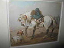 FORT Theodore, *1810  Spielender Hund mit Pferd
