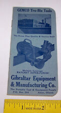 1950 Memo Book GILBRALTAR EQUIPMENT GEMCO Tru Blu Tools Railroad ALTON ILLINOIS