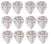 FENDER  Premium Celluloid Plectrums - Pack of 12 picks  -  White - Heavy.