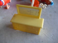 Vintage 1950s Yellow Plastic Dresser with Mirror Furniture