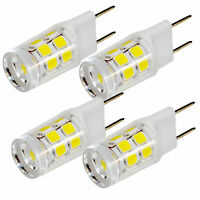 4-Pack HQRP 2W G8 Bi-Pin Base SMD 2835 17 LEDs Cool White Light Bulb 150-200Lm