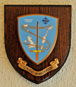 Combined Air Operations Centre Finderup plaque shield crest NATO CAOC Denmark
