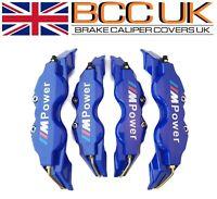 BIG BLUE Brake Caliper Covers Kit White M Power Logo Front Rear 4x L+M fits BMW