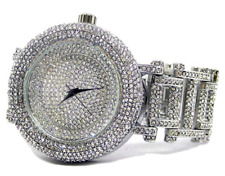 Ultra bling faux diamond Orbit Silver plated HipHop Bling Watch