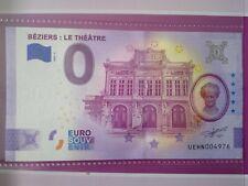 BILLET EURO SOUVENIR 2020-3 BÉZIERS LE THÉÂTRE ANNIVERSAIRE