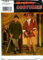 Renaissance Costume Sewing Pattern Men Size XS S M L XL UNCUT SIMPLICITY 7761