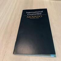 Movado official international guarantee (S)             n.36