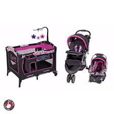 Stroller Car Seat Set Combo Baby Girl Travel System Nursery Center Playard Crib