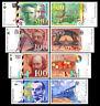 2x 50 - 500 francs francais - Edition 1993 - 2000 - 8 billets de banque - 01