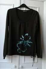 A.S.A.P DARK BROWN ROUND NECK LONG SLEEVE TOP SIZE M