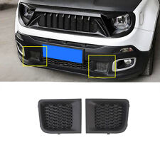ABS Black Front Bumper Grille Air Intakes Cover Trim For 2015-2018 Jeep Renegade