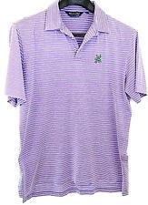 POLO GOLF RALPH LAUREN Pima Cotton Shirt Purple Lavender White Stripe Chest 48 L